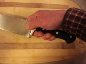 Holding a knife properly helps it do the work for you.